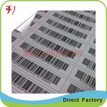 Customized     Qr code label paper adhesive sticker qr sticker,promotion wholesales adhesive customer name sticker printer
