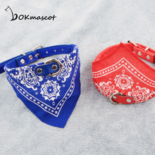 dog bandana harness leash Cat with speail for Cats and Small Dogs , collar with Scarf(China)