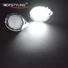 New Car styling 2x 18smd LED Side Under Mirror light For Edge Explorer Mondeo Taurus auto accessory lamp LED under mirror Light