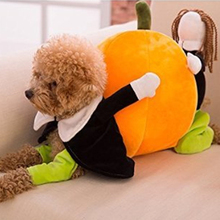 2016 Funny Halloween Dog Costume Pumpkin Dog Clothes Novel Pumpkin Pet Coat Fleece Small Dog Super Cute Costume Puppy Pet Cloth