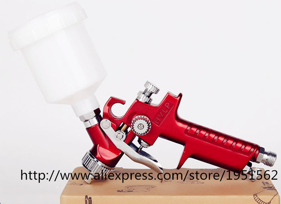 H2000 Mini HVLP Professional Air Spray Paint Gun Set Car Auto Painting Kit capacity 125ml 3bar 0.8mm  Very good Atomization<br><br>Aliexpress