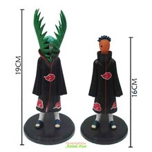 5 Set/lot Naruto Figure Doll Toys Zetsu 2pcs/set PVC 16-19CM