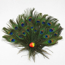 23-30cm Fashion DIY Feather 20Pcs Beautiful Blue Peacock Feather Clothing Decoration Plumage Crafts