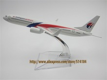 16cm Alloy Metal Airplane Model Air Malaysia Airlines B737 Aircraft Boeing 737 800 Airways Plane Model W Stand  Gift