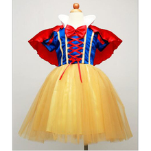 Clearance Summer Girls Snow White Princess Dresses Kids Girls Halloween Party Christmas Dresses Costume Children Girls Clothes(China)
