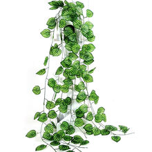 New 2.45m Artificial Ivy Leaves Flower Vine Home Decor Party Wedding Decoration Mariage Fake Artificial Plants