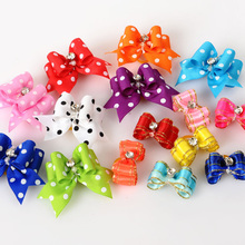 5PCS Pet Supplies Products Handmade Dog Accessories Pet Hair Bows Dog Show Supplies Pet Hair