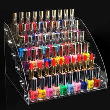 New Promotion Makeup Cosmetic 6 Tiers Clear Acrylic Organizer Mac Lipstick Jewelry Display Stand Holder Nail Polish Rack(China)