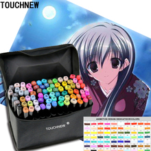 TOUCHNEW  Anime Drawing Marker Design Dual Head Sketch Markers set stabilo Marker  Sketch Color copic markers 80 Colors