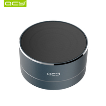 QCY A10 Wireless Bluetooth Speaker Mininal Art portable metal subwoof MP3 music player support TF card for Iphone Android(China)