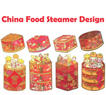 China Food Steamer Design 2018 Chinese New Year Red Packet Red Envelope 5 Pack 20 Pcs(China)