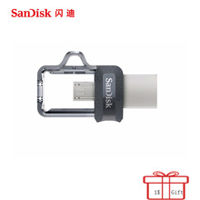 Sandisk USB Flash Drive 8 ГБ 16 ГБ 32 ГБ 64 ГБ 128 ГБ 256 ГБ двойной OTG USB 3,0 /USB 3,1 Pen Drives Stick U диск для компьютера телефона ПК(China)