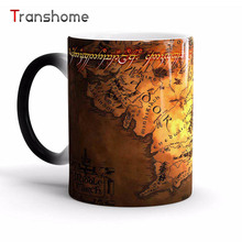 Transhome Lord Of The Rings Color Changing Mug Ceramic Heat Sensitive Tea Coffee Mug For Gift High Quality