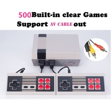 KaRue Retro Classic Game Player Family TV Video Game Consoles Childhood Built-in 500 Double handle control Pal Ntsc(China)