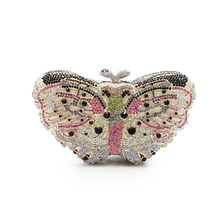 Rhinestone Butterfly Clutch Bag In A Bags For Womens Purses Butterfly Clutch Chain Purse Box Clutch Evening Bags(8636A-G)