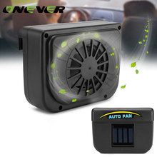 Onever Solar Car Auto Cool Fan Cooler Vehicle Air Vent Radiator with Rubber Strip Sun Ventilation Fan Cooling Car Window Cooler