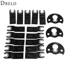 DRELD 18Pcs Oscillating Multi Tool Quick Change Saw Blade Accessories Metalworking For Multimaster Renovator Bosch Power Tools