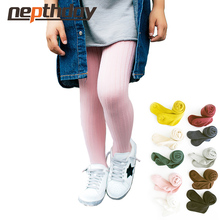 2-10T Gilr Candy Color Pantyhose Toddler Kids Tights cotton solid tights Spring/Autumn Pantyhose(China)