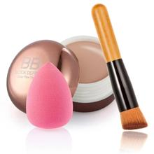 Hot Moisturizing Concealer + Inclined Partner Powder Brush + Water Drop Shape Puff Nov 1(China)