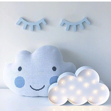 New Fashion Metal Cartoon White Clouds LED Light Toys Baby Kid's Bedroom Deration Night Sleeping Lamp