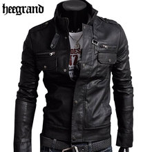 HEE GRAND 2017 Classic Style Motorcycling PU Leather Jackets Men Slim Male Motor Jacket Men's Clothes MWP148(China)