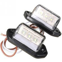 Brightness and Durable 12-24V 3 LED rear license number plate light lamp truck boat caravan trailerv 2PCS(China)