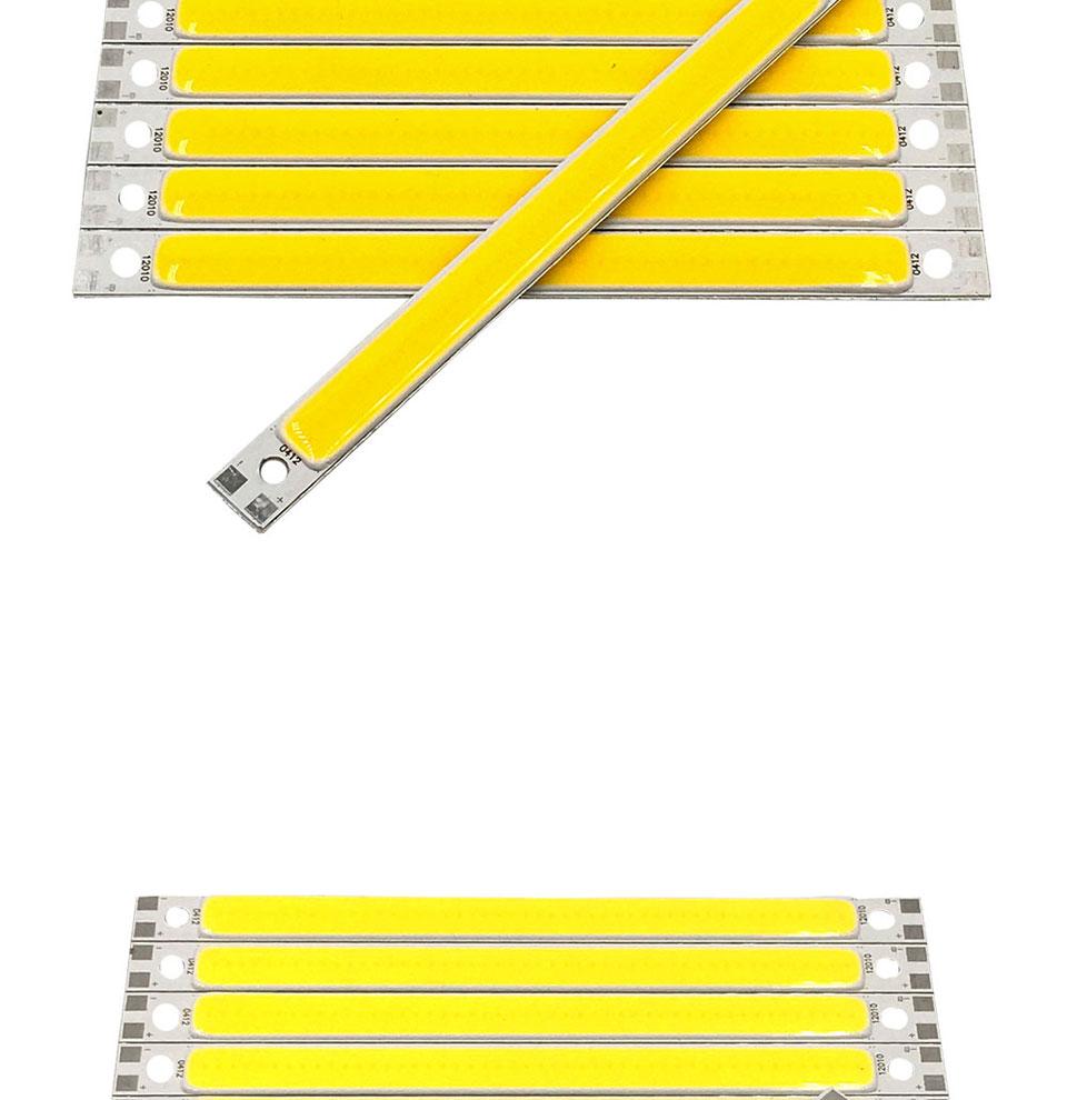 120mm 4.72in LED Bar Light Strip COB Bulb 12V 7W 10W LED Lamp Green Blue Red White Emitting Colors 12010mm COB Chip (6)