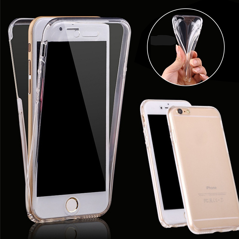 Iphone 6/6S 7 6plus/6Splus 7plus Case Clear TPU Case Huawei P8 P9 P10 Soft Gel Silicon 360 Full Body Protect Phone Cover