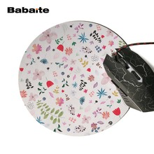 Babaite Design Jolly Birds Unique Desktop Pad Mousepads Computer Animation Round Mouse Mat Round Mice Pad For Jolly Birds