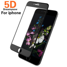 Buy 5D Full Cover Curved Screen Protector Film iPhone 7 6 6S 8 Plus 5D Edge Full Cover Film iPhone X 8 7 6 6S Tempered Glass for $2.19 in AliExpress store