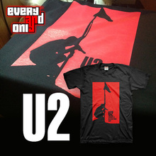 U2 Alternative rock Band Red Sky Cotton short-sleeve T-shirt tee t cloth