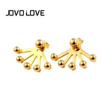 JOVO Delicate Lady Female Stud Earrings Gold Color High Quality Stainless Steel Multi Bar Metal Earrings for Women Jewelry(China)