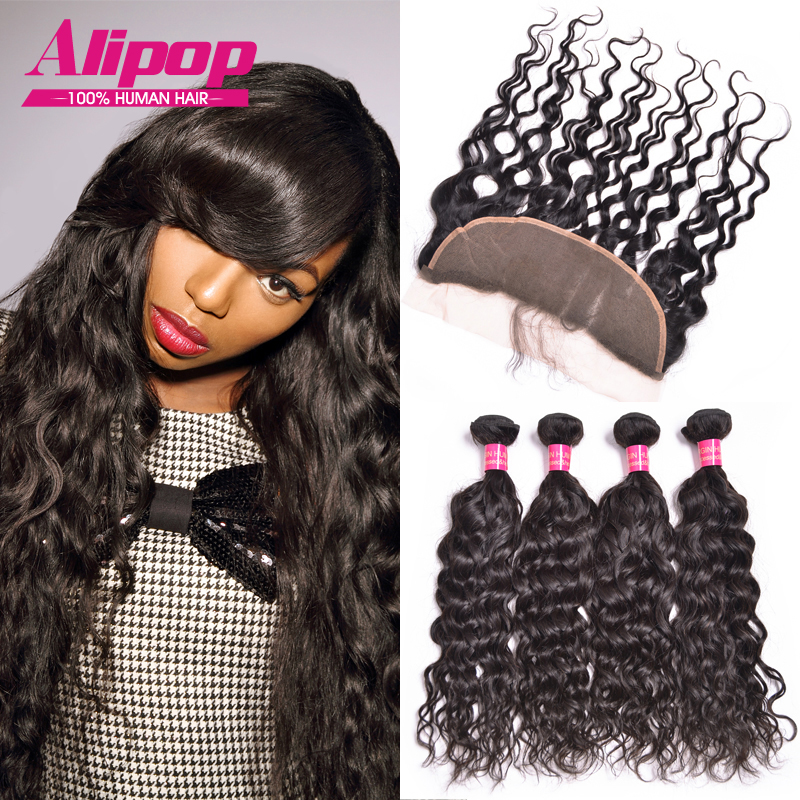 Malaysian Natural Wave With Lace Frontal Closure 5pc/lot 13*4 Ear To Ear Lace Frontal Closure With Bundles Malaysian virgin Hair<br><br>Aliexpress