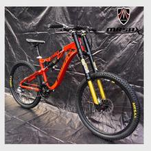 Kalosse Downhill bike DH/AM/XC Full suspension 26 *17 inch bicicleta mountain bike 26 er 24/27/30 speed Hydraulic brakes(China)