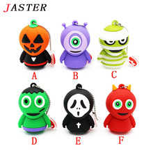 JASTER horrific ghost USB Flash Drive Pen drive cartoon U disk memory stick pendrive 4GB 8GB 16GB 32GB Halloween gifts