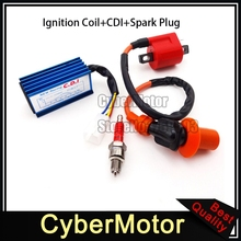 Racing AC CDI Ignition Coil Red A7TC Spark Plug For XR50 CRF50 Pit Dirt Bike Motorcycle 70cc 90cc 110cc 125cc Engine ATV Quad