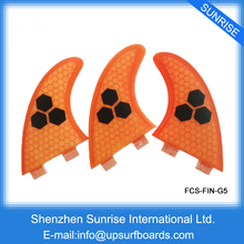 FCS Fin Surf Boards Fins G5 Orange/Blue/Green/Gray FCS Surfing Fin Quilhas thruster(China)