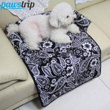 3 Colors Flower Print Dog Sofa Beds Multifunctional Dog Mats Pet Car Seat Cover S-XL(China)