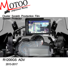 Motoo - for BMW R1200GS LC 13-17 / LC Adventure 2014-2017 Cluster & GPS Navigator Scratch Protection Film Screen Protector