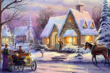 memories of christmas by Thomas Kinkade oil painting poster fabric canvas wall poster print