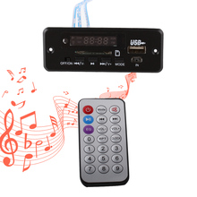 Car MP3 Decoder Board Wireless Audio Module - Red Digital LED Display DC 5v USB TF Radio Player With Remote Controller