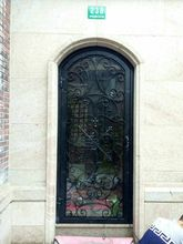 "Custom design 72"" x 98"" custome design double wrought iron doors iron front doors d1"