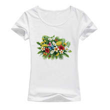Summer New Women Harajuku flowers butterfly T Shirts Female kawaii Tops Casual Fashion Flower T Shirt A106