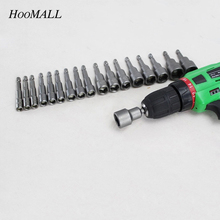 Hoomall 14Pcs 6-19mm Hexagon Magnetic Screwdriver Bit Hand Tool Steel Electric Screw Driver Set For Electric Drill Power Tools(China)