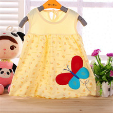 0-1-2T Cute & Nice printing Infant baby cotton dress toddler children girl's Various styles dresses summer clothes(China)