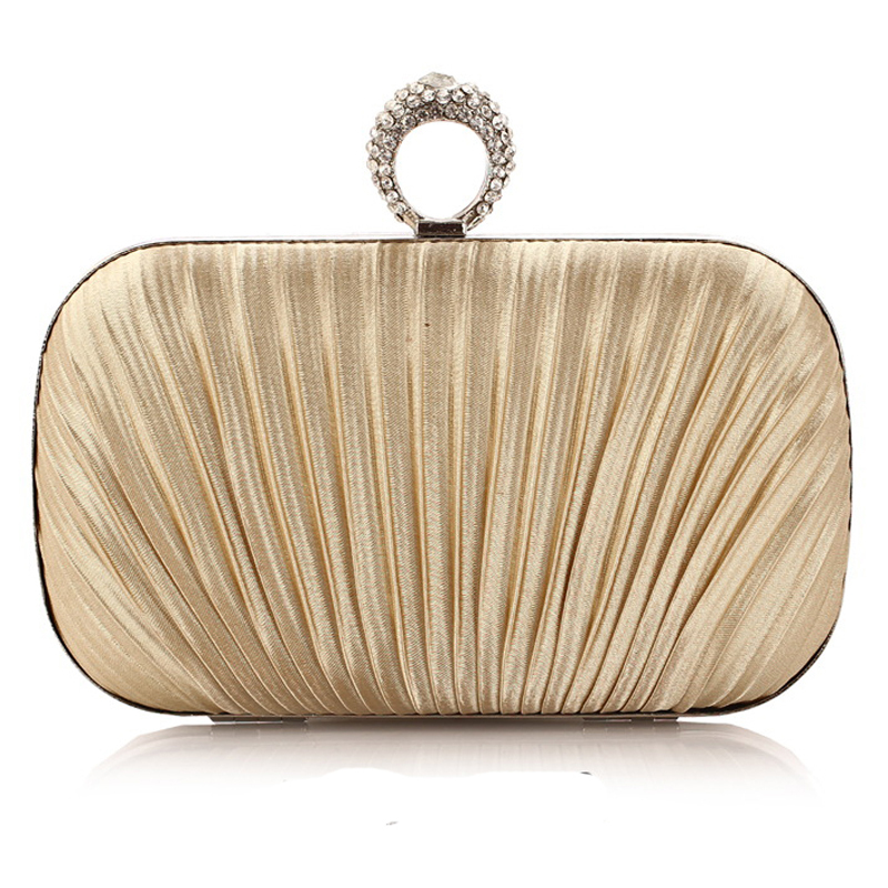 NEW women rushed finger ring diamonds evening bags satin clutch evening  bag alloy mix color handbags for party<br><br>Aliexpress