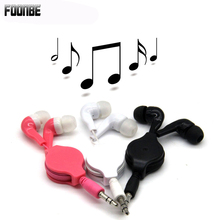 Telescopic Cartoon Earphone Lovely Children Gift Earphones In-Ear Wired Ear Phones For Mobile Phone MP3/4