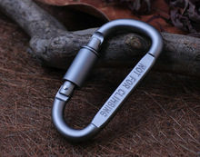 2pcs Outdoor Sports Aluminium Alloy Safety  Keychain Button Carabiner climbing cycling Hiking Hook free shipping GYH