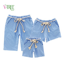 2016 new designer family clothing summer boys shorts mother father baby beach shorts cotton casual family mathing outfits