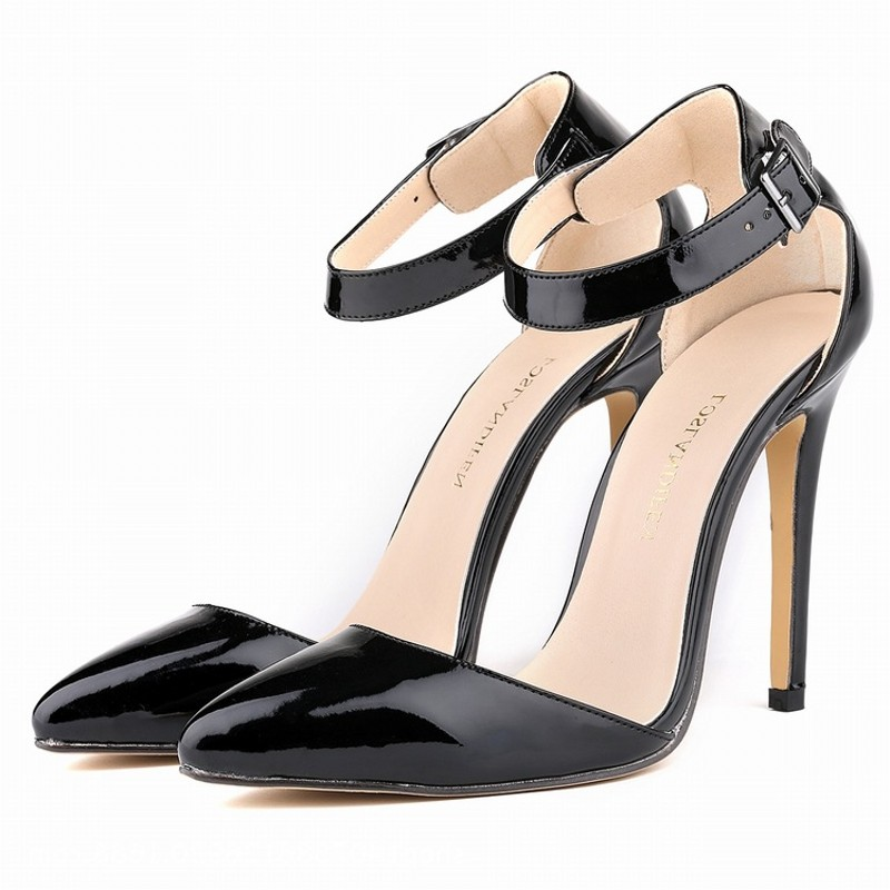 Loslandifen womens pumps high heels sandals shoes woman ankle strap party wedding dress OL pointed toe pu leather ladies shoes <br><br>Aliexpress